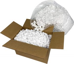 packing peanuts to prevent damage